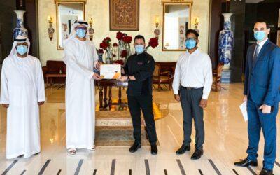 Grand Millennium Hotel Business Bay receives 'Certificate of Appreciation' from Dubai Government