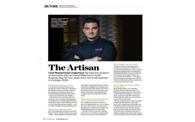 Hotel & Catering News me interviews executive chef mohammad chabchoul of Grand Millennium Business Bay