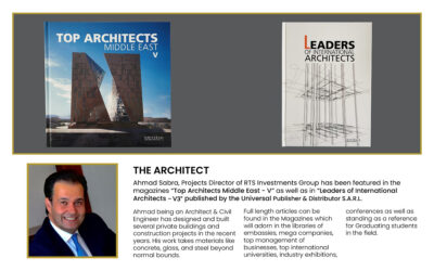 """AHMAD SABRA FEATURES IN """"TOP ARCHITECTS MIDDLE EAST – V"""" AND """"LEADERS OF INTERNATIONAL ARCHITECTS – V3"""""""